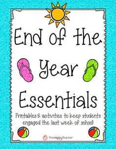 Printables and activities to keep your students engaged during the last few weeks of school! The activities require no preparation (except making copies) so you will have a variety of things to choose from during the last few hectic days of school! $