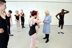 Camilla on a visit to the Brit School For Performing Arts in Croydon 27 Mar 2013