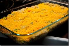 Cheesy Chicken & Broccoli Rice Casserole - this is amazing!