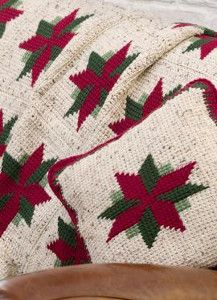 Your Christmas decorating won't be complete without this Christmas Star Throw and Pillow. It's Christmas crochet pattern you definitely don't want to miss.