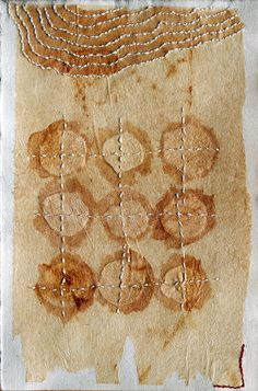Embroidered Drawing on Teabag no.5 by Missouri Bend Studio