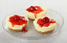 Low-Fat mini cheesecakes