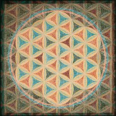 Sacred Geometry - flower of Life - Earth Tones