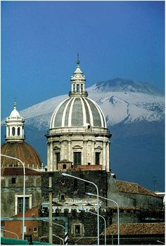 Catania, Sicily - Mt.Etna in the background