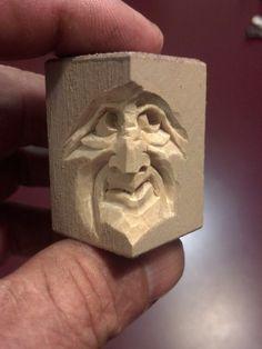 Tiny Face 1 carved Steve Coughlan