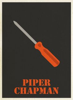 Minimalist Posters for 'Orange Is the New Black'Characters