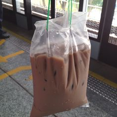 Singaporean style of take out drinks