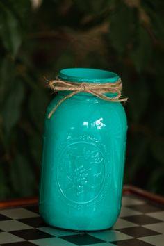 turquoise mason jar. #masonjars