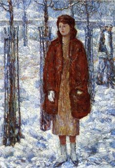The Snowy Winter of 1918, New York - Childe Hassam