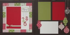 Suz's Stampin Spot: December 2102 Club Scrapbook Pages