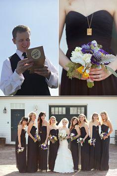 These black bridesmaid dresses, long and flowy @Christy Polek Polek Swinger, @Rachel R Narwold @Melanie Bauer Bauer @Ashley Walters Walters MoritzBoard #104560