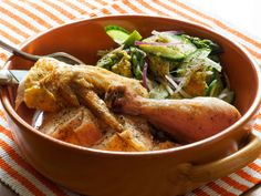Roast Chicken With Asparagus Panzanella   Serious Eats : Recipes