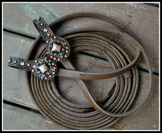 Custom split reins to match headstall