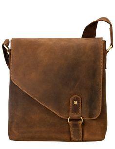 Visconti Oiled Leather Aspin Messenger Bag Hunter