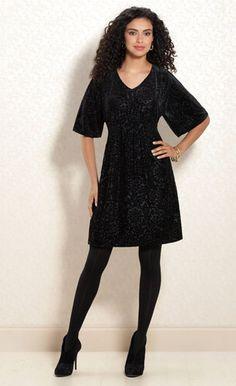 Black Currant: #Soma Devore Velvet Dress in Black #SomaIntimates