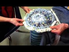 Toothbrush rag rug tutorial, via YouTube. Wonderful use for all those outdated stained clothes. Instead of throwing them in the garbage, make a rug out of them.  Awesome.