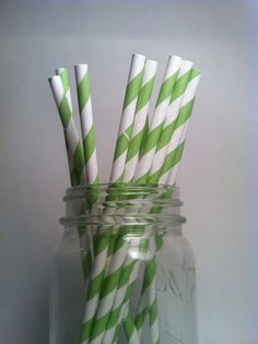 green straws for lemonade in mason jars perfection.