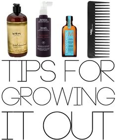 Tips for growing out your hair: MoroccanOil helps moisturize and prevent split ends