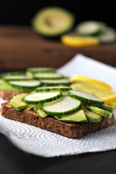 Avocado Toast with Cucumber and Lemon ~ Just a simple, healthy and oh so satisfying snack!