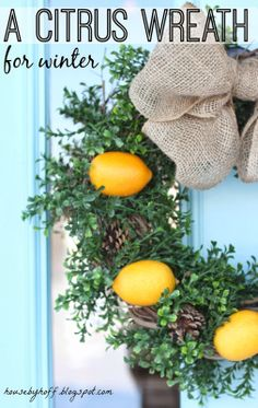 A Citrus Wreath for Winter
