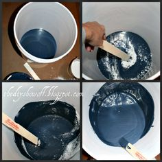 custom chalkboard paint tutorial {and edging tips} craft, paint cans, antique furniture, chalkboard paint, paint recipes, homes, blog, diy projects, home improvements