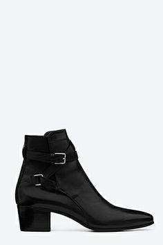 Saint Laurent Signature Jodhpur Ankle Boot, $970, available at Saint Laurent