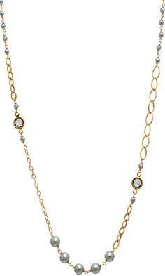 Coco Necklace in Platinum $148 #swarovski #pearls #jewelry