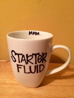 DIY Sharpie mug.  Great idea for the person who needs a little morning pick-me-up!