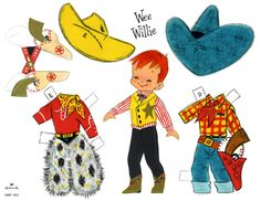 Wee Willie paper doll