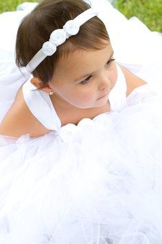 White Satin Rose Headband with Pearls for by sweethearttutus, $27.00. Flower girl headband?
