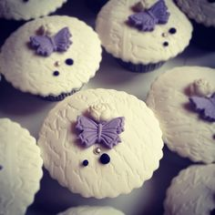 Butterfly theme wedding cupcakes