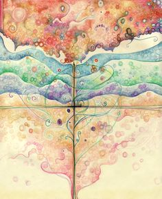 """""""Where everything is music"""" by Duende*Art   Love the watercolor textures."""