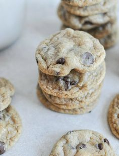 Mini Whole Wheat Chocolate Chip Cookies | How Sweet It Is