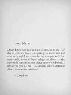 Soul mates...