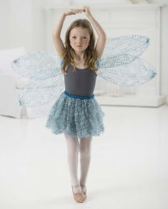 Celebrate #FairyDay with these Fairy Wings, made with Lion Brand Imagine!
