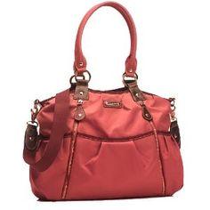 Olivia Diaper Bag in Berry