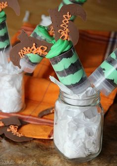 Melted Witch Push Up Pops