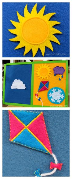 Make this felt weather board for your toddlers and preschoolers using foam board and felt scraps.