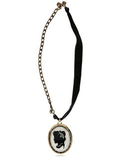 LANVIN - CAMEO WITH RESIN PEARLS NECKLACE - LUISAVIAROMA - LUXURY SHOPPING WORLDWIDE SHIPPING - FLORENCE