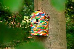 Diy Lego bird house @Ari Bennett Legowo Zwolle (via Ecomama)