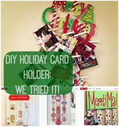 How adorable is this super easy DIY holiday card holder? (You know all your cards are a mess on your counter) http://thestir.cafemom.com/home_garden/165385/easytomake_holiday_card_holder_is?utm_medium=sm&utm_source=pinterest&utm_content=thestir