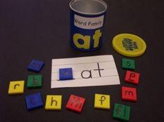 literacy centers, literacy games, kindergarten lessons, kindergarten lesson plans, phonic, word family activities, word families, literacy activities, word work