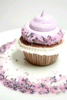 Tea lavendar cupcakes