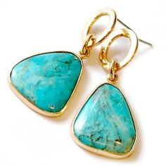 earring jewelri, post earring, turquoise, turquois post, turquois drop