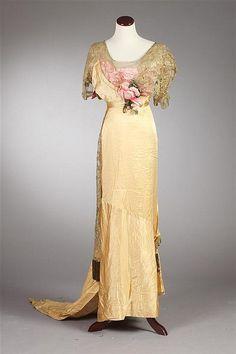 SILK EVENING DRESS, Circa 1915