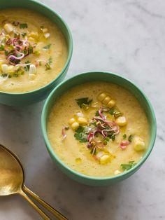 Sweet Corn Gazpacho #sweetsurprisesweeps /