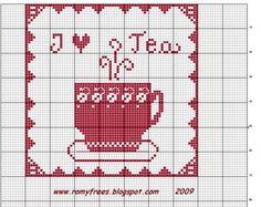 Romy's Cross Stitch Patterns: I LOVE TEA