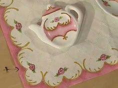 VER VIDEO > Como pintar porcelana - Tea for one