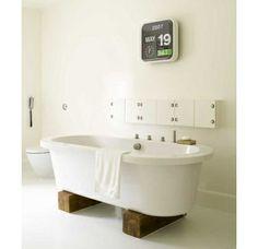 wood base bathtub