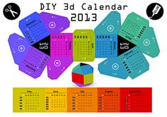 DIY Paper Ball 3d Calendar 2013    Let me introduce my latest product, the hand made desk calendar made of paper.   I made it for users who like to work with paper in a creative way.  The ready calendar can be a decoration on your desk and you can be proud that you made it. Available colorful and light variations. See the compiling instruction and how-to video: http://tsfe.hu/robolab/